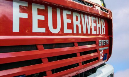 Brand in einem Firmenareal in Oed