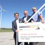 Windpark Sommerein ging in Betrieb